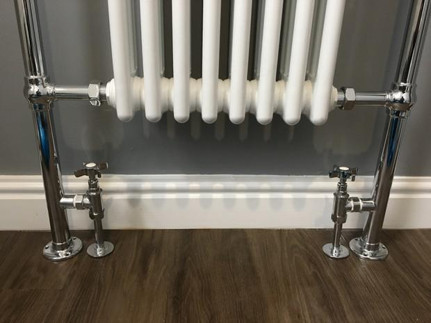 Image 30 - Traditional style towel rail and combined radiator.