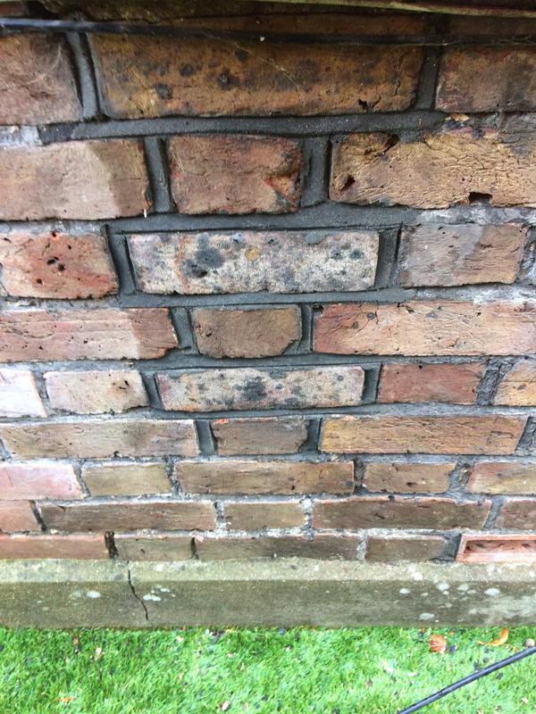 Image 56 - Brick replacement with charcoal mortar Tarring