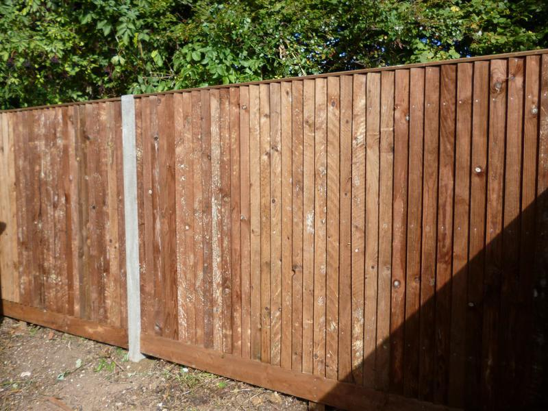 Image 9 - Closeboard fencing supported by concrete posts.