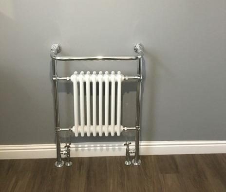 Image 32 - Traditional style towel rail and combined radiator.