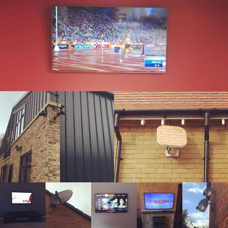 Image 4 - TV Wall Mounting , Satellite installation services standard and discreet , aerial installation , cctv and telephone / WiFi services including point to point and multi access points for domestic and small commercial