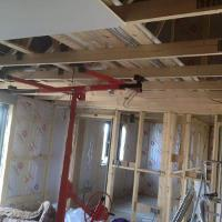 Image 28 - boarding up ceiling and walls
