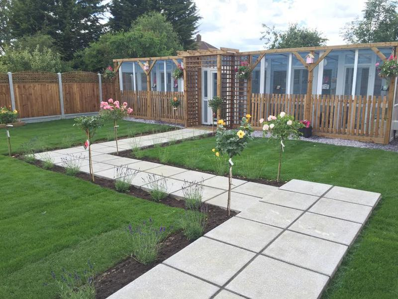 Image 34 - We built an entrance pergola, paved pathway, fencing with trellis, Turfing and then we planted Standard roses and lavender!..