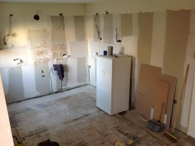 Image 98 - Kitchen ripouts can look extreme but its always best to take everything back to bare walls to get the best final result.