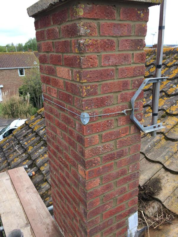 Image 60 - Chimney repointed in bucket handle finish Durrington