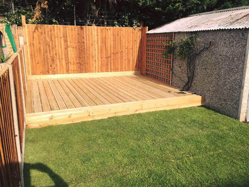 Image 35 - New fencing, decking and turf