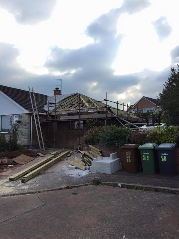 Image 25 - A side extension on a bungalow with a cut roof we did