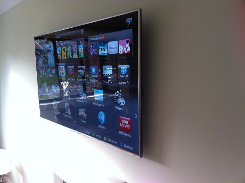 """Image 2 - Samsung 55"""" LED smart tv and chase cabling in wall"""