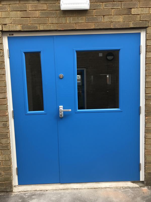 Image 24 - Leaf and a half steel door set