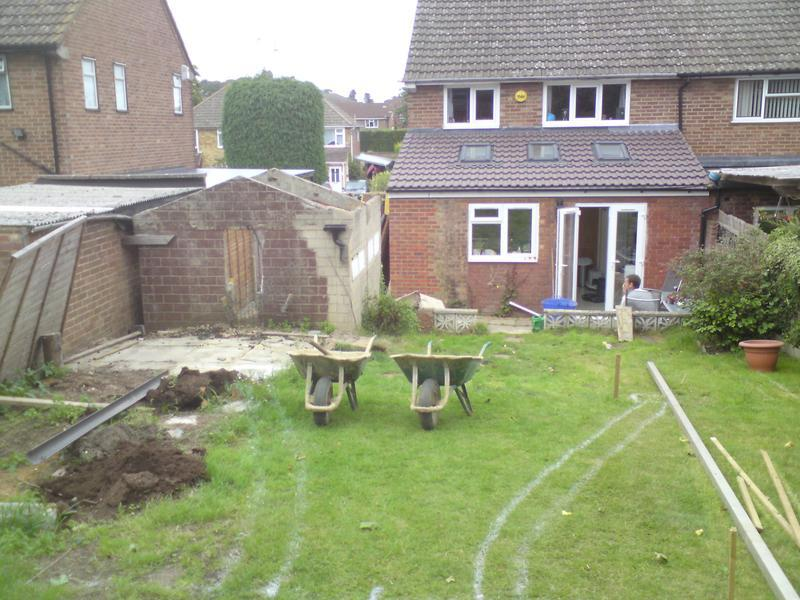 Image 9 - Extensive garden landscaping, before photo taken at setting out stage.