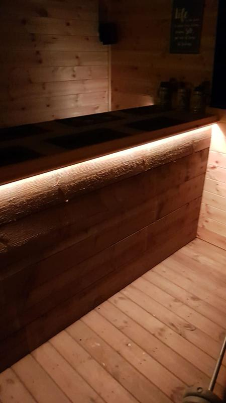 Image 23 - Bespoke shed bar, with LED down lights
