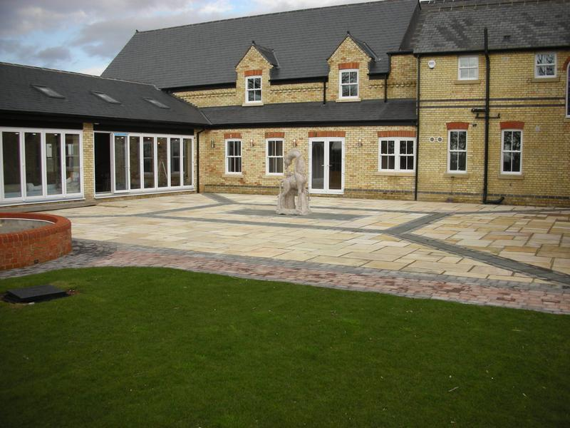 Image 18 - Indian Sandstone in Buff Brown & Tegula Block Blue/Black in Lower Stondon