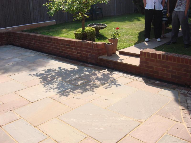 Image 4 - Indian Stone patio & garden walls built at high road North Weald