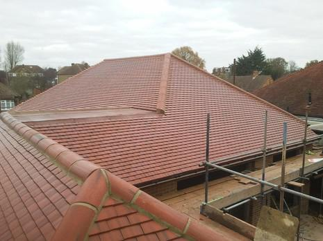 Image 15 - Orpington Redland plain tile roof renewal.