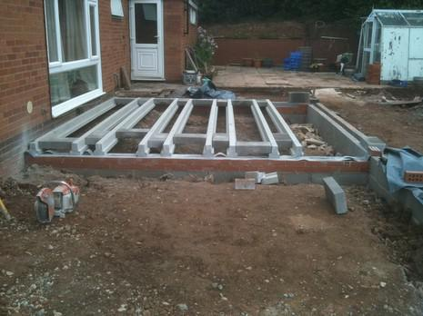 Image 13 - house extension started in tenbury