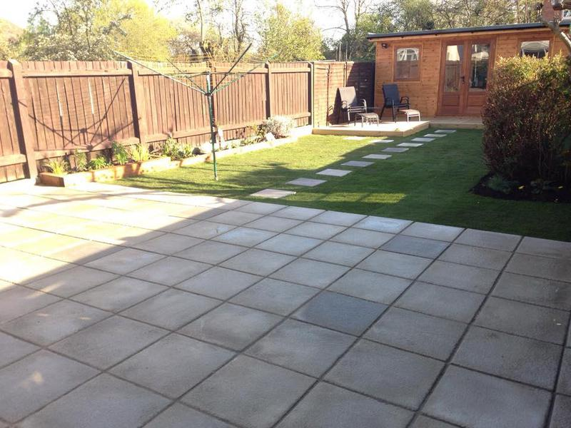 Image 42 - Paving, Turfing, re-turfing, raised flower beds and stepping stones.