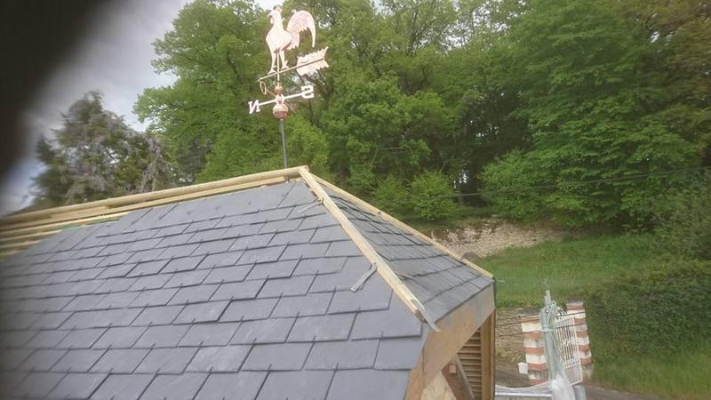 Image 15 - Slate roof with weather vane ready for lead work