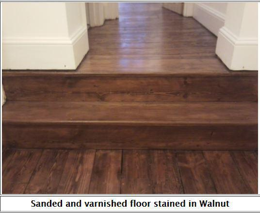 Image 23 - Walnut stained pine floorboards.
