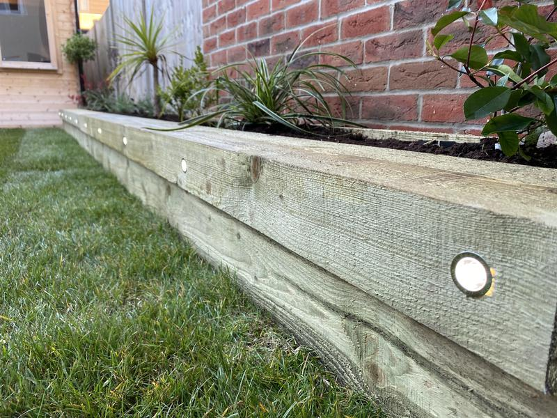 Image 8 - 35- after close up on planter beds with integrated lighting