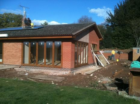 Image 19 - tenbury extension almost completed