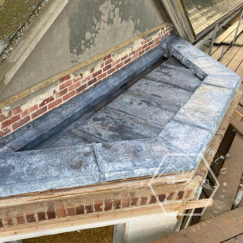 Image 25 - Lead bay with new t-print gutter and welted capping detail