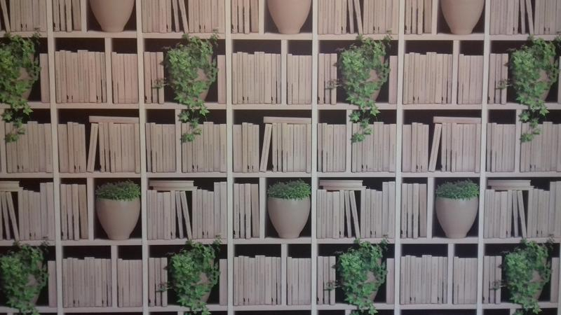 Image 12 - bookshelf feature wallpaper