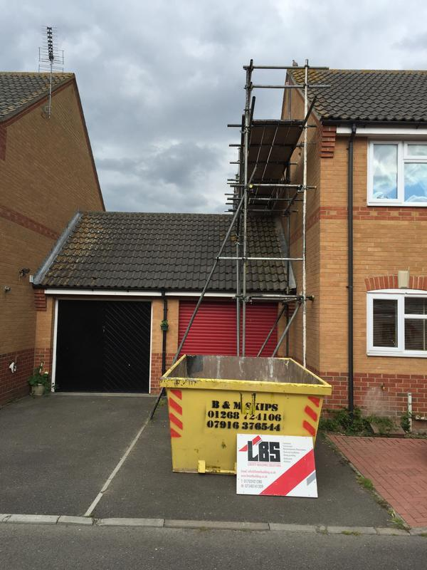 Image 40 - Scaffolding in place for a loft conversion