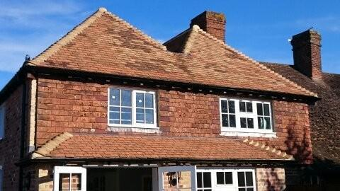 Image 34 - Shorne Wood reclaimed roofing and tile hanging renewal.