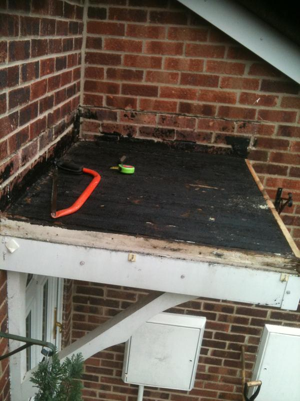 Image 1 - porch flat roof, with old felt taken of