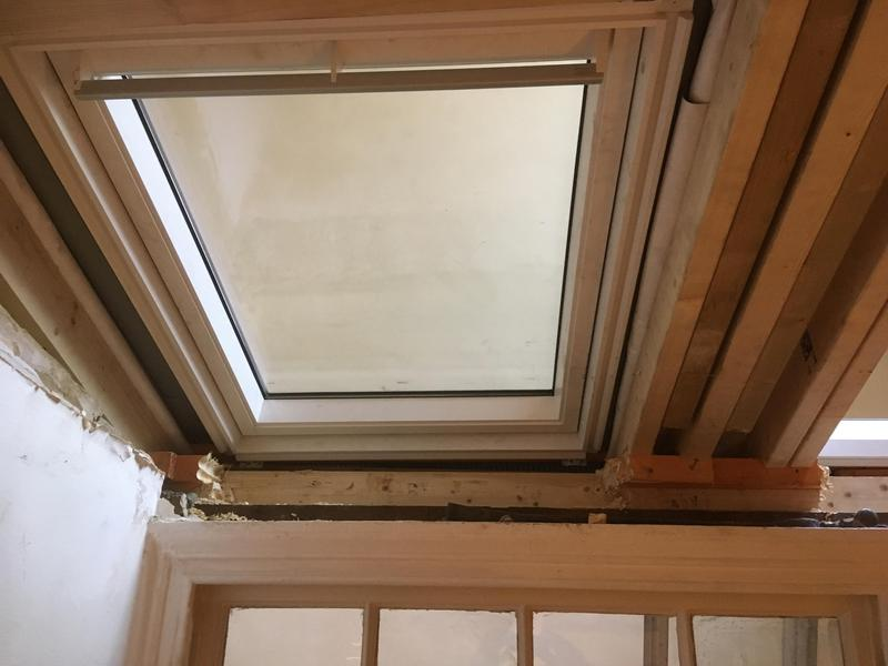 Image 3 - Internal view of new rafters and velux windows installed in Pimlico