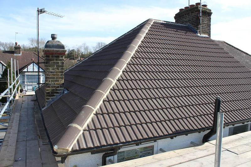 Image 3 - Newly Concrete Sand Face Brown Plain Tiled Roof