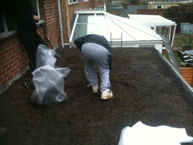 Image 3 - Extension flat roof, before
