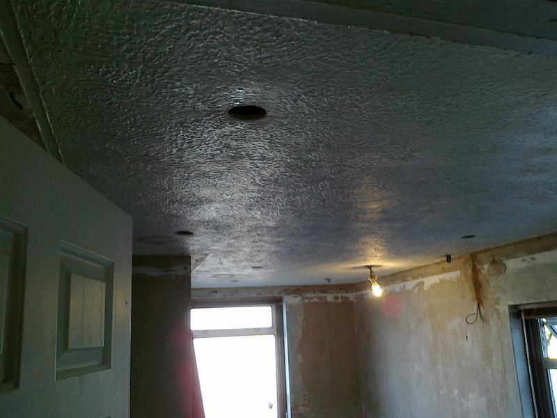 Image 43 - Artex Ceiling Skim 'Before'