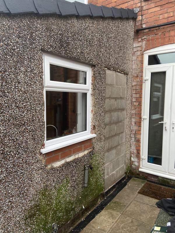 Image 9 - Door way bricked up and old window taken out and lifted higher for new pvc window