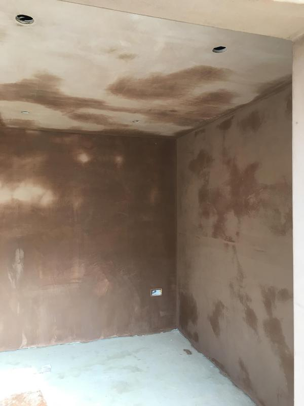 Image 44 - Walls plastered