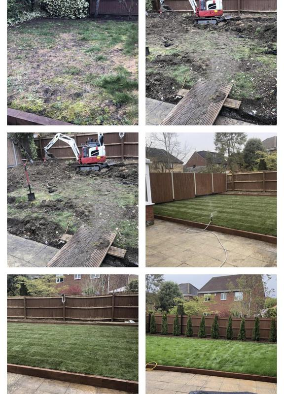 Image 27 - 19- Dug up garden ready for a complete refurb , with fencing , sleepers , turf and planting