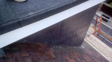 Image 51 - Clapham dormer flat roof, cheeks and UPVC soffit, fascia and guttering renewal.