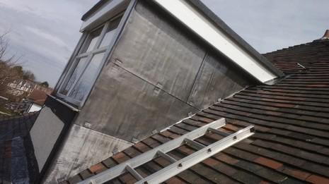 Image 52 - Clapham dormer flat roof, cheeks and UPVC soffit, fascia and guttering renewal.