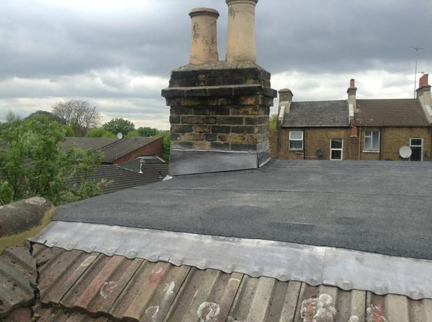 Image 53 - Ladywell flat roof and lead flashing renewal.