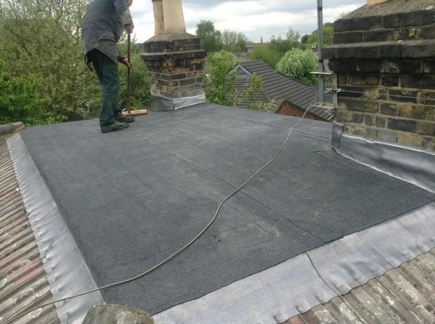 Image 54 - Ladywell flat roof and lead flashing renewal.