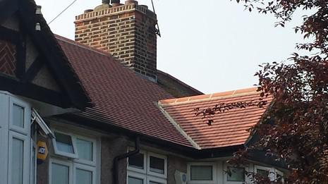 Image 56 - Sidcup Redland plain tile and UPVC soffit, fascia and guttering renewal.
