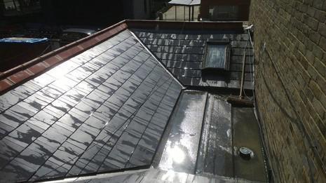 Image 57 - London Marley eternit thrutone and felt roof renewal.