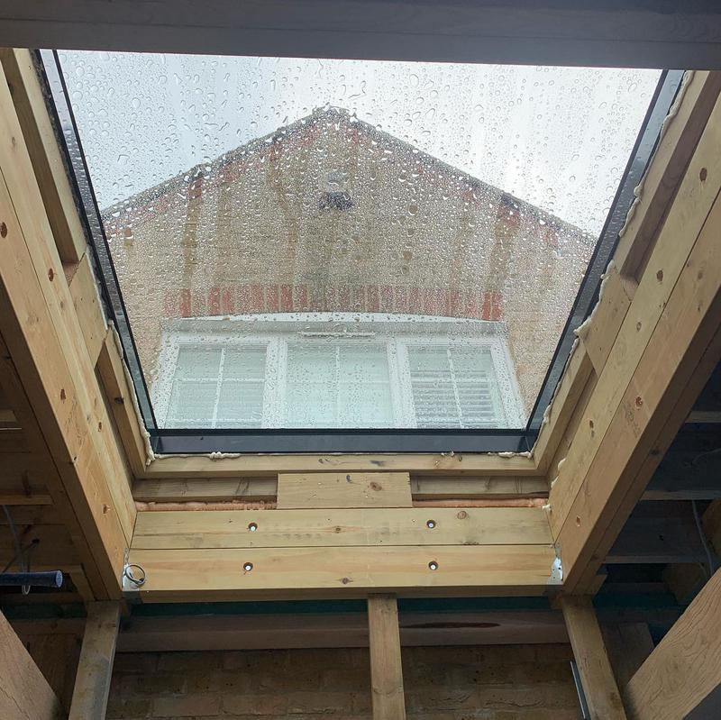 Image 8 - Large roof light fitted