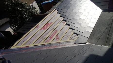 Image 58 - London Marley eternit thrutone and felt roof renewal.