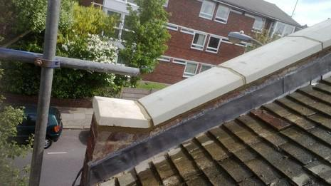 Image 60 - Catford lead flashing and coping stone renewals.