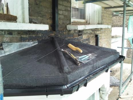 Image 61 - Lewisham felt bay roof renewal.