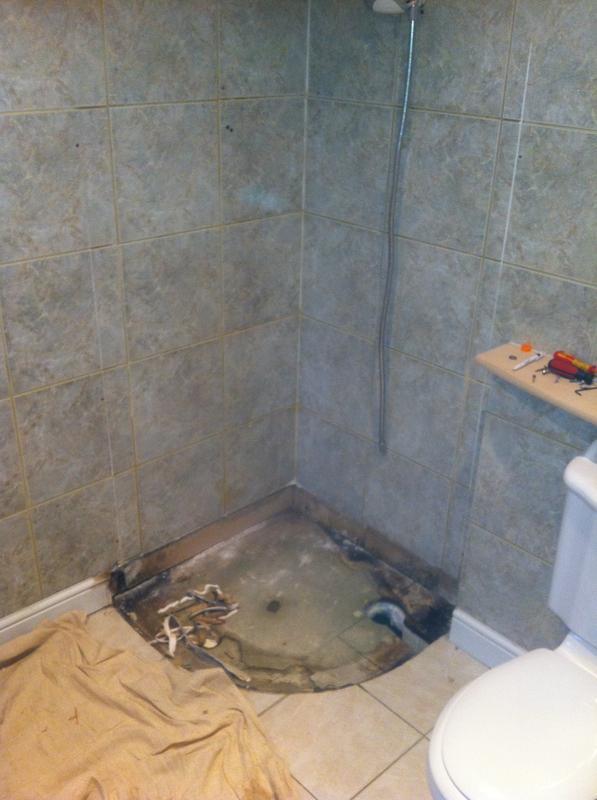 Image 16 - Removed Quadrant Shower Tray & Enclosure