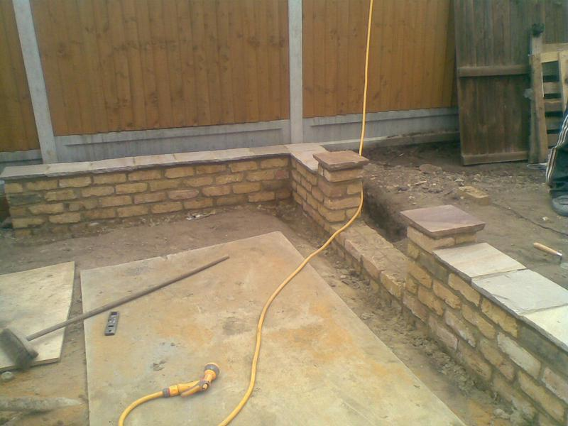 Image 1 - just finnished 9inch stock wall with indian cap stones