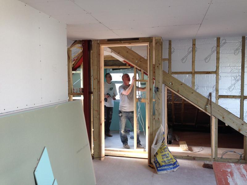 Image 30 - Stud work partition