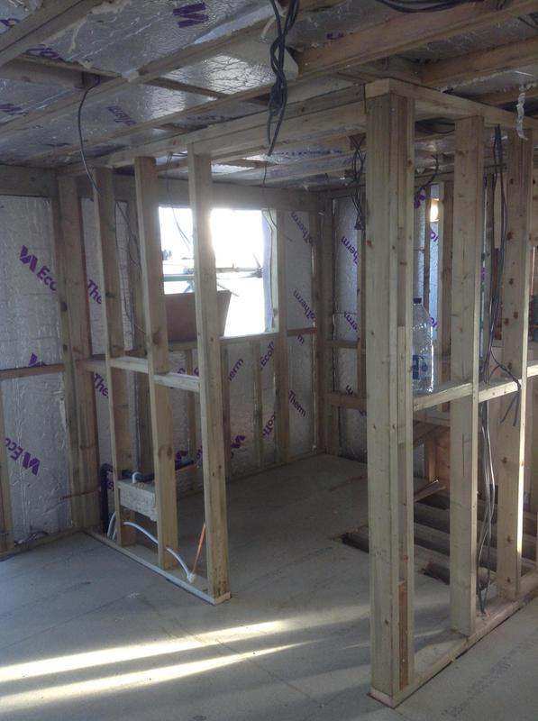 Image 7 - November 2018, Loft conversion ensuite taking shape.
